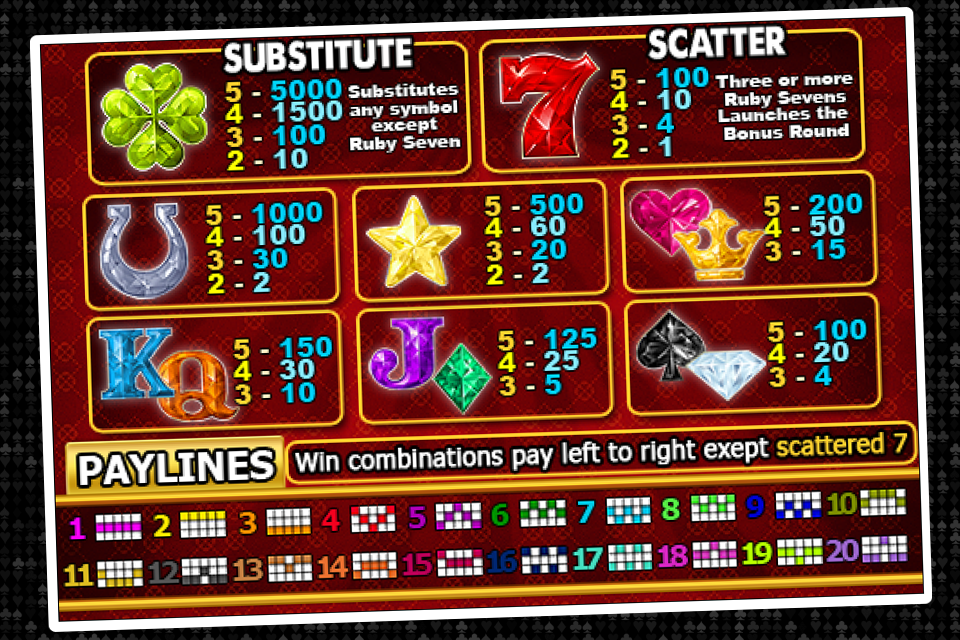 Red hot rubies casino machine casino cagnes sur mer